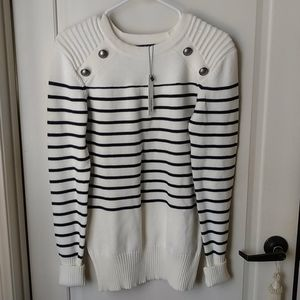 NWT  Striped Classic Sweater Small